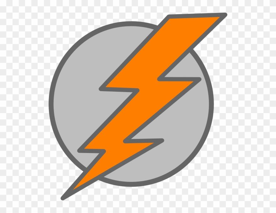Thunder Bolt Plain Clip Art.