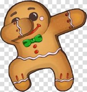Navidad, Gingerbread man illustration transparent background.