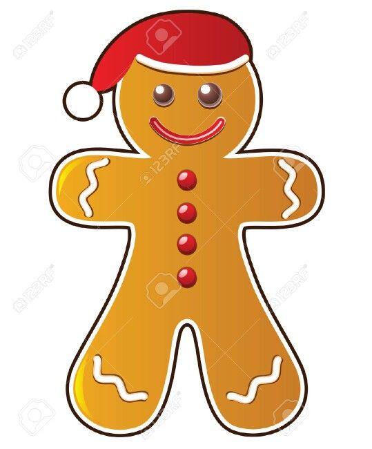 Gingerbread Man Cartoon.
