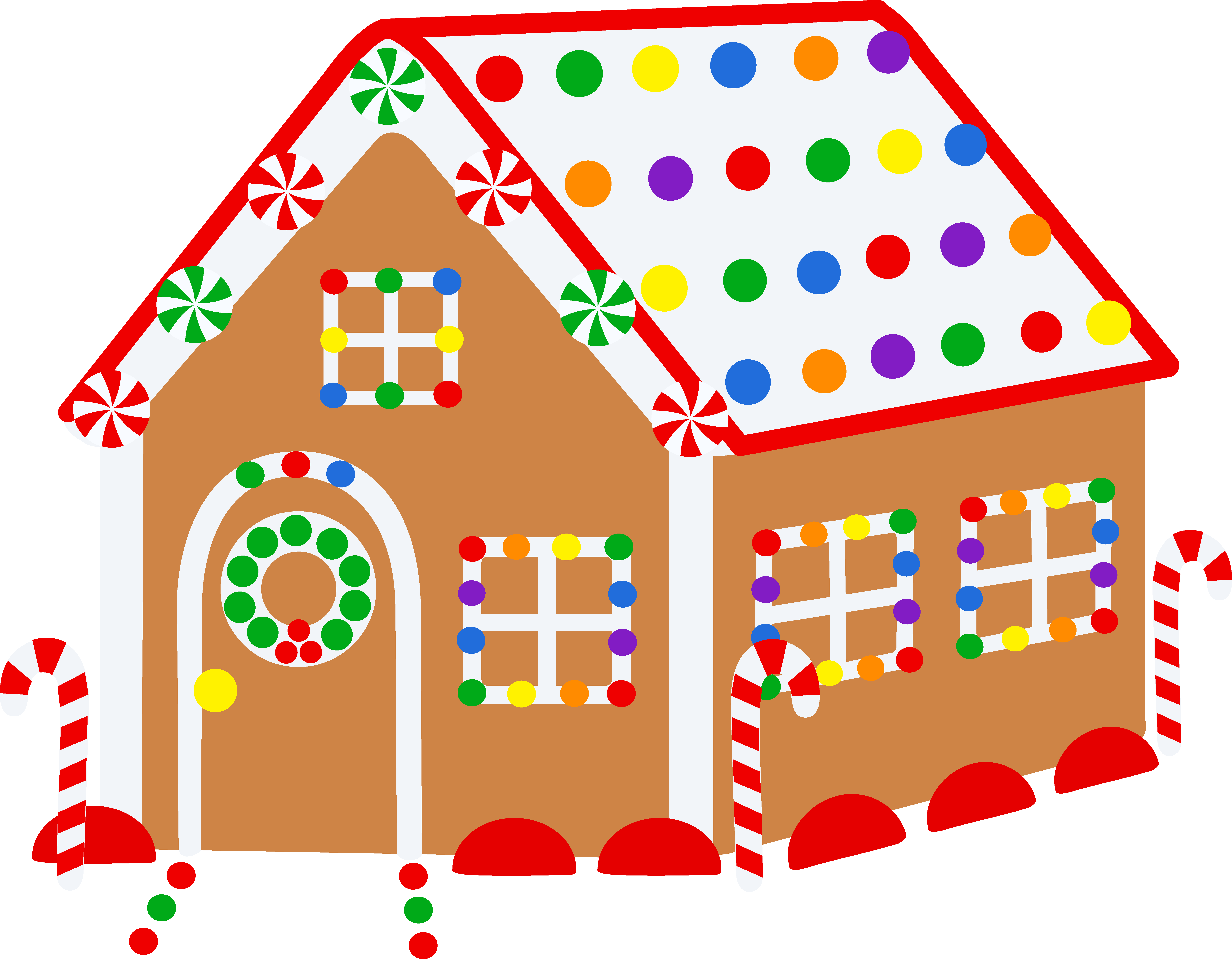 Clipart Of Gingerbread Houses.