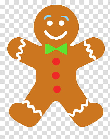 Navidad, Gingerbread man illustration transparent background.