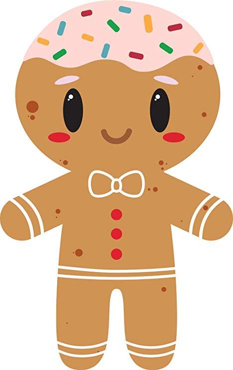 Amazon.com: Cute Adorable Kawaii Gingerbread Man Cartoon.