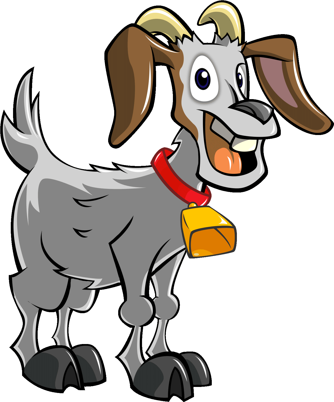 HD Goat Clipart Animation.