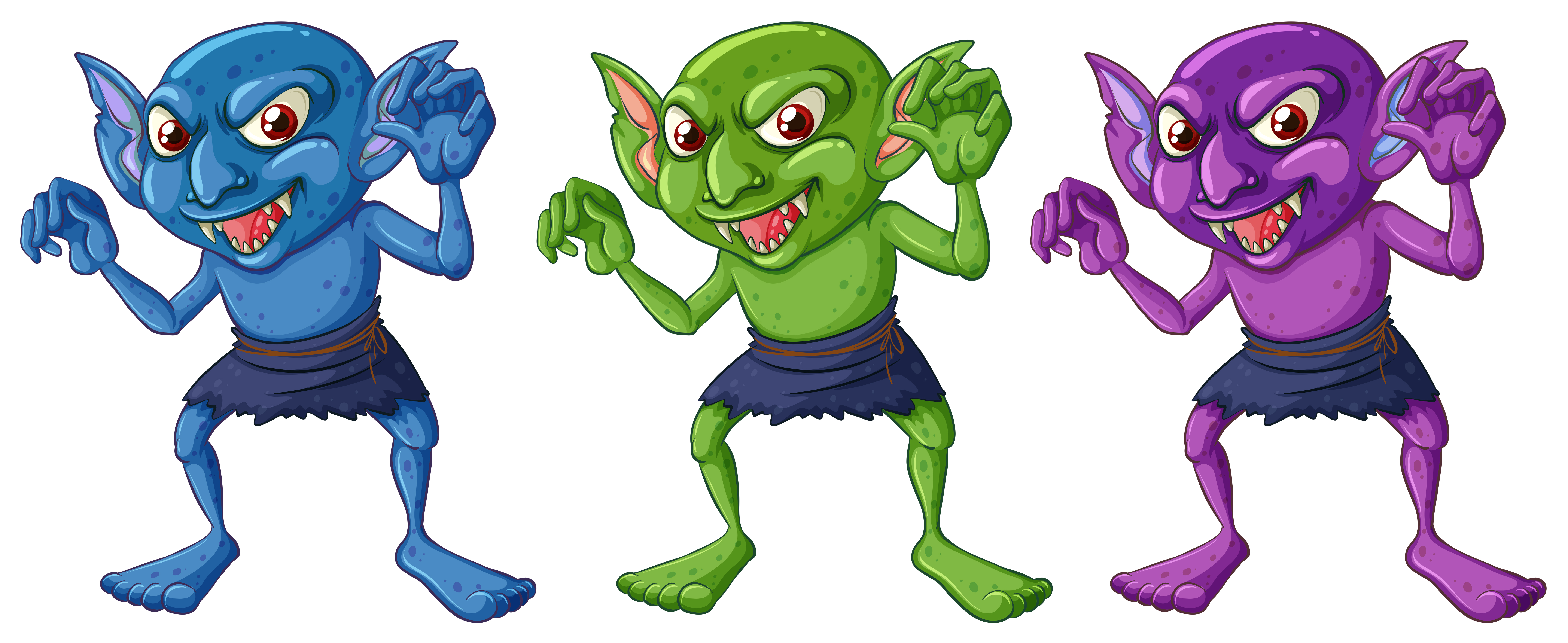 Green Goblin Free Vector Art.