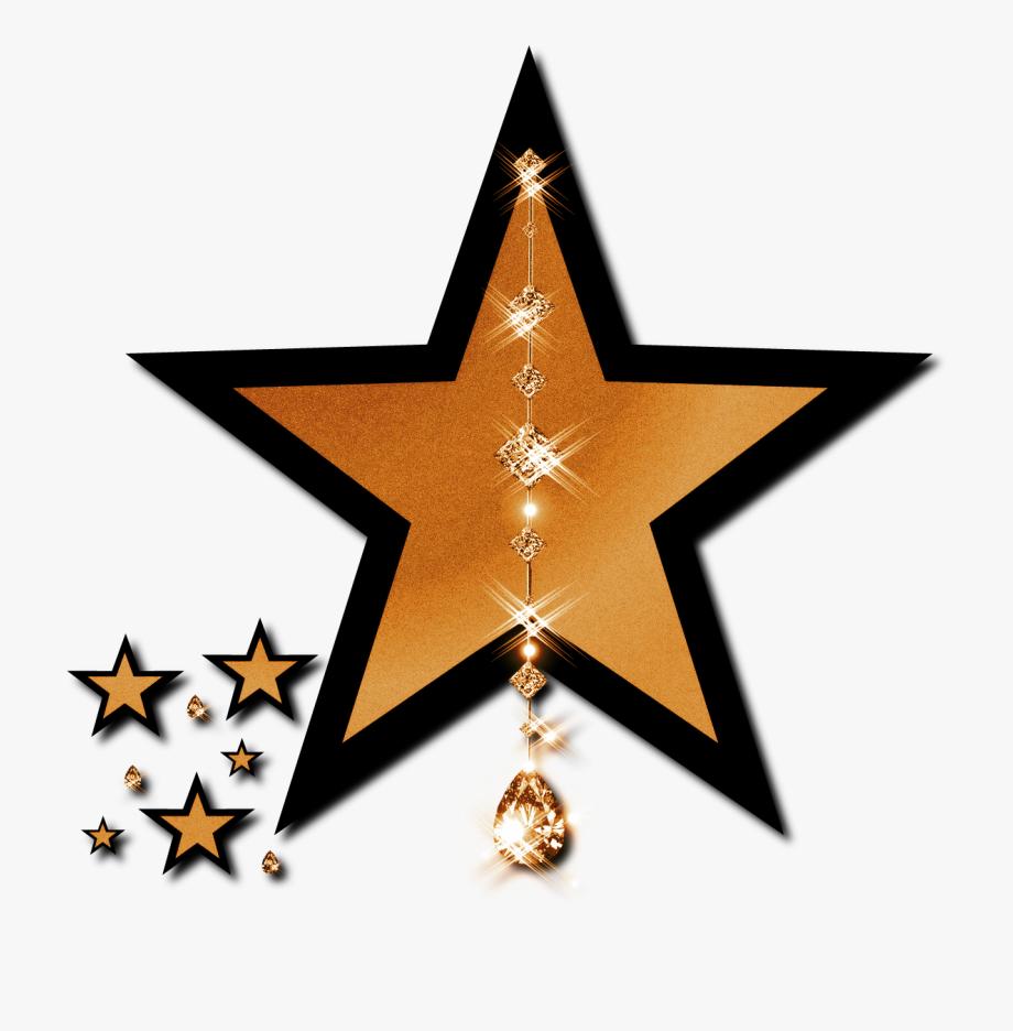 Beautiful Gold Star Clipart.