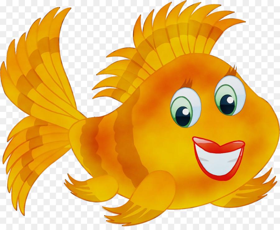 cartoon animated cartoon yellow clip art goldfish.