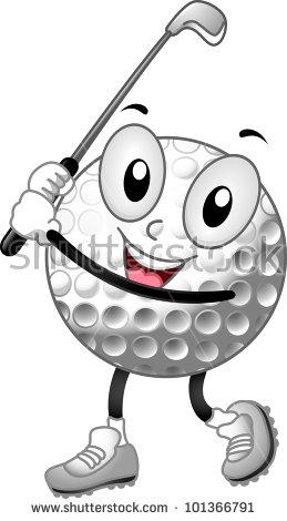 Golf Ball Cartoon Stock Images, Royalty.
