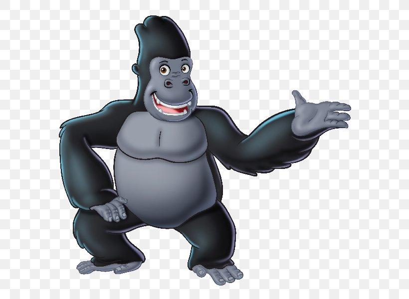 Gorilla Ape Juicy Fun Cartoon Clip Art, PNG, 600x600px.