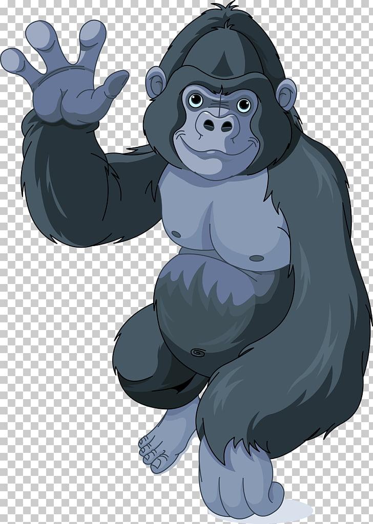 Gorilla Cartoon , gorilla PNG clipart.