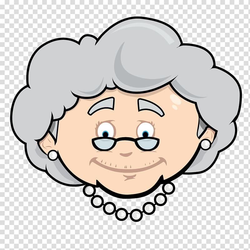 Grandma clipart face, Grandma face Transparent FREE for.