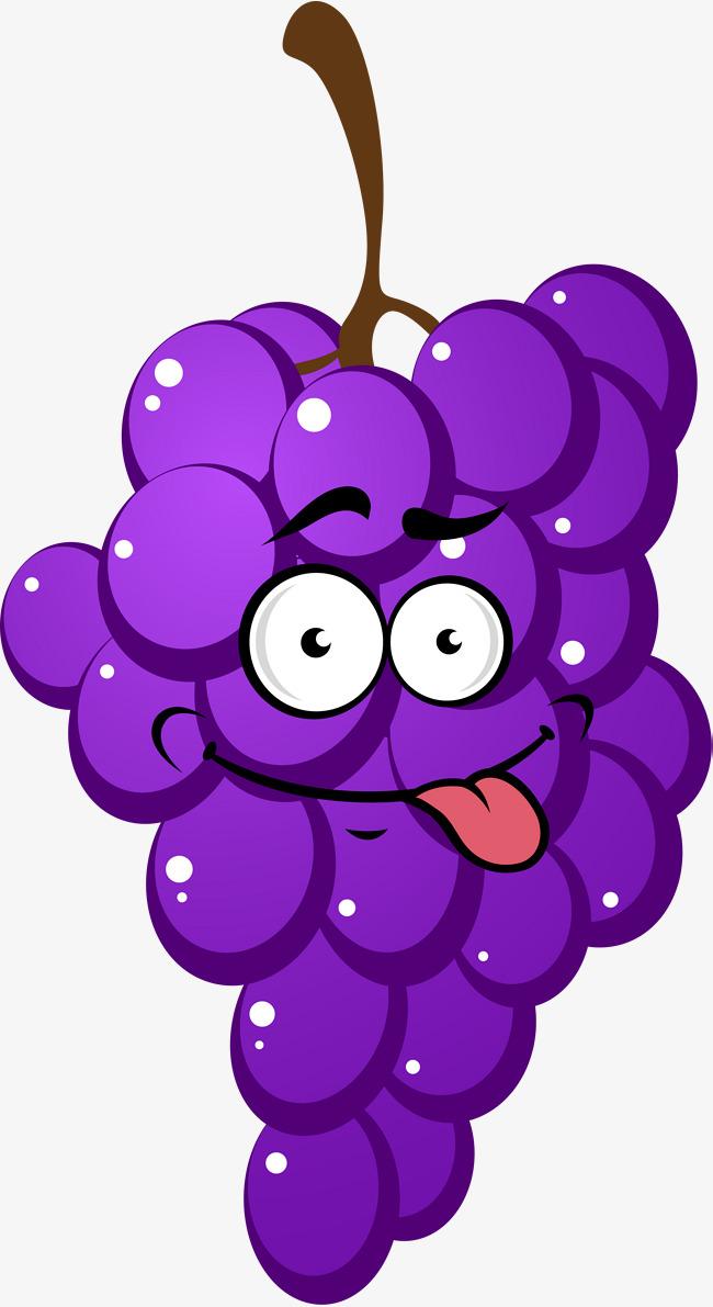 Grapes Cartoon Clipart.