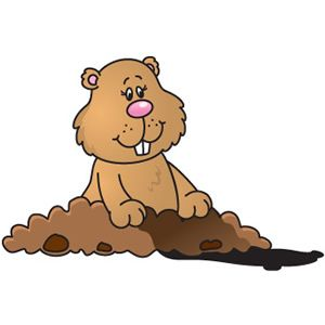 Cute Groundhog Clipart Mariana lara escobar.