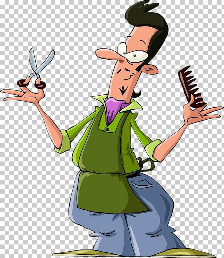 Comb Hairdresser Cartoon Barber, Hairdressing material PNG.