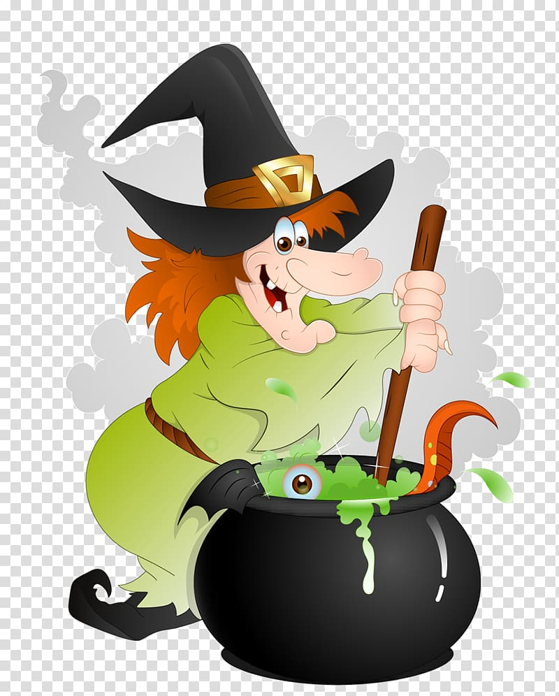 Cooking witch , Halloween Witchcraft , Halloween Witch with.