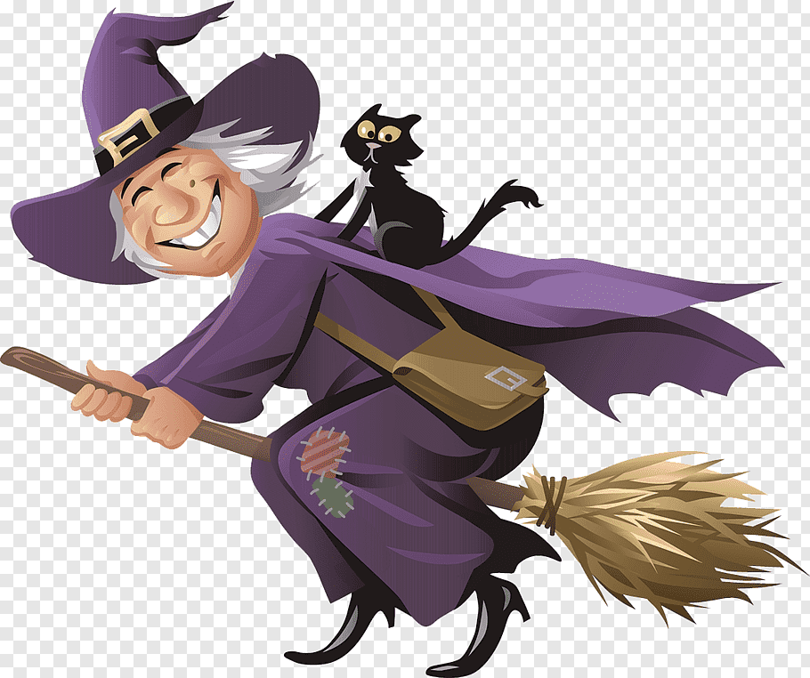 Witch illustration, Witch Drawing Illustration, Cartoon.