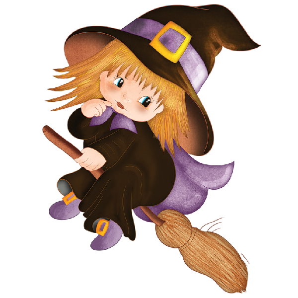Cute Halloween Baby Witches Cartoon Clip Art Images Are On A.