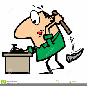 Animated Hammer Clipart.