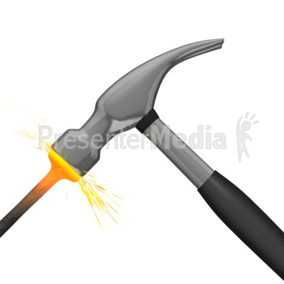 Hammer Hitting Nail.