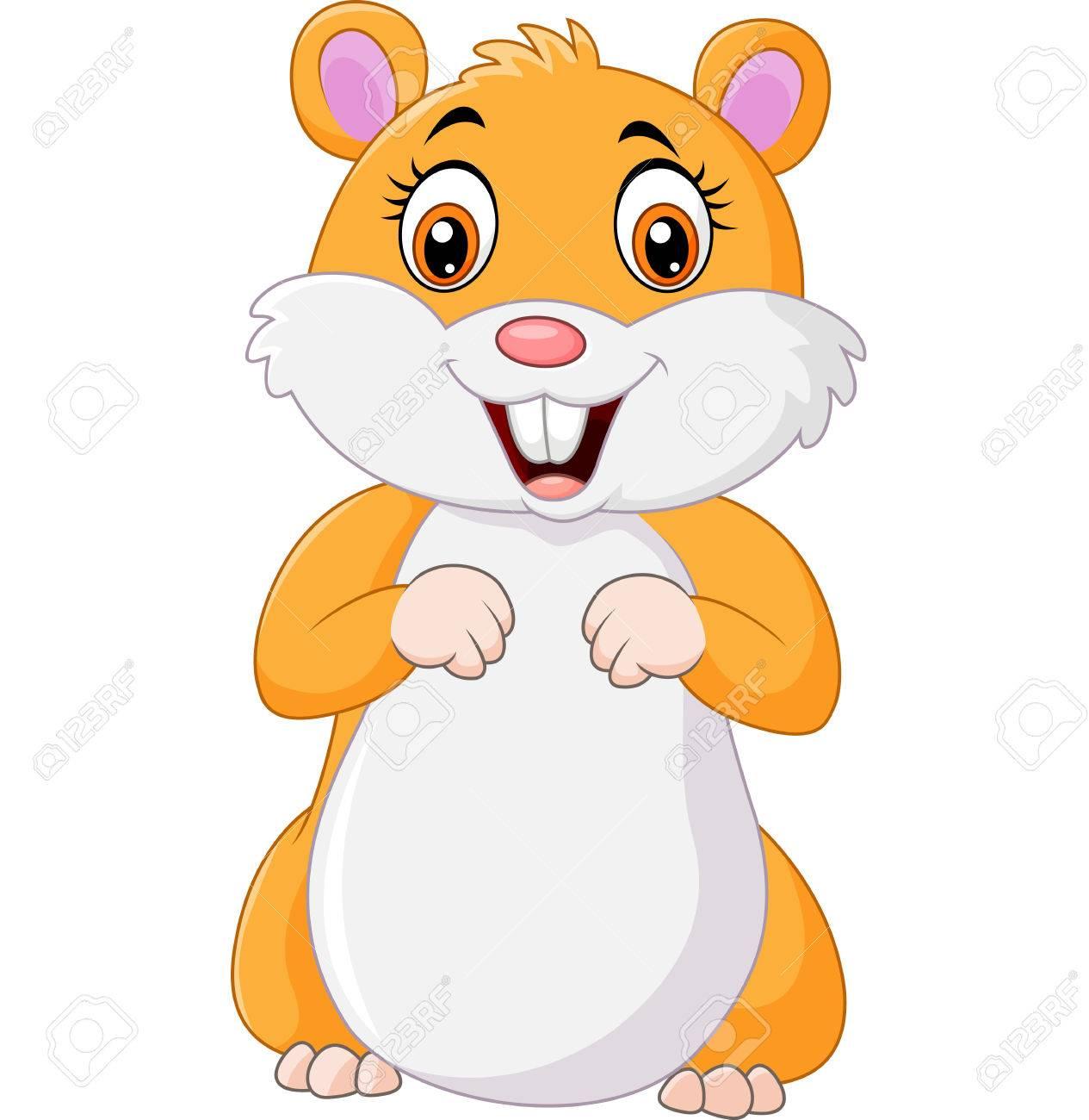 Cute hamster cartoon.