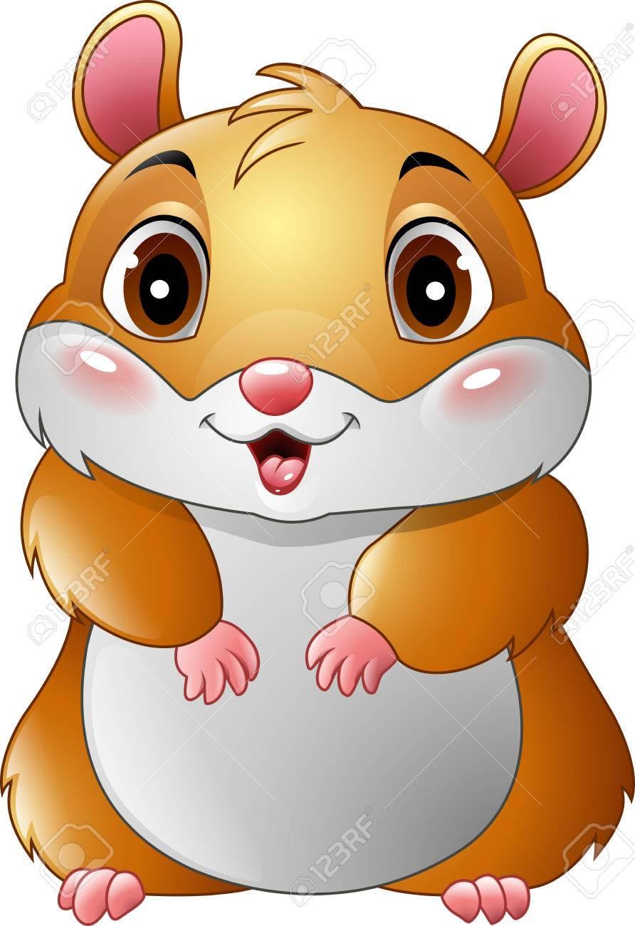 illustration of Cute hamster cartoon.