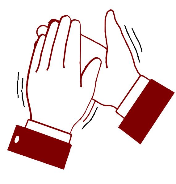 Clapping Hands Color Clip Art at Clker.com.
