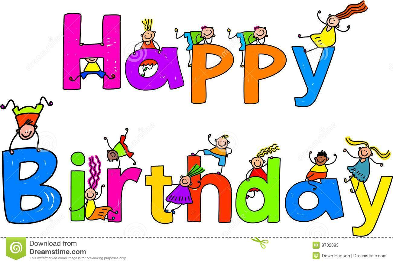 Animated happy birthday clipart.