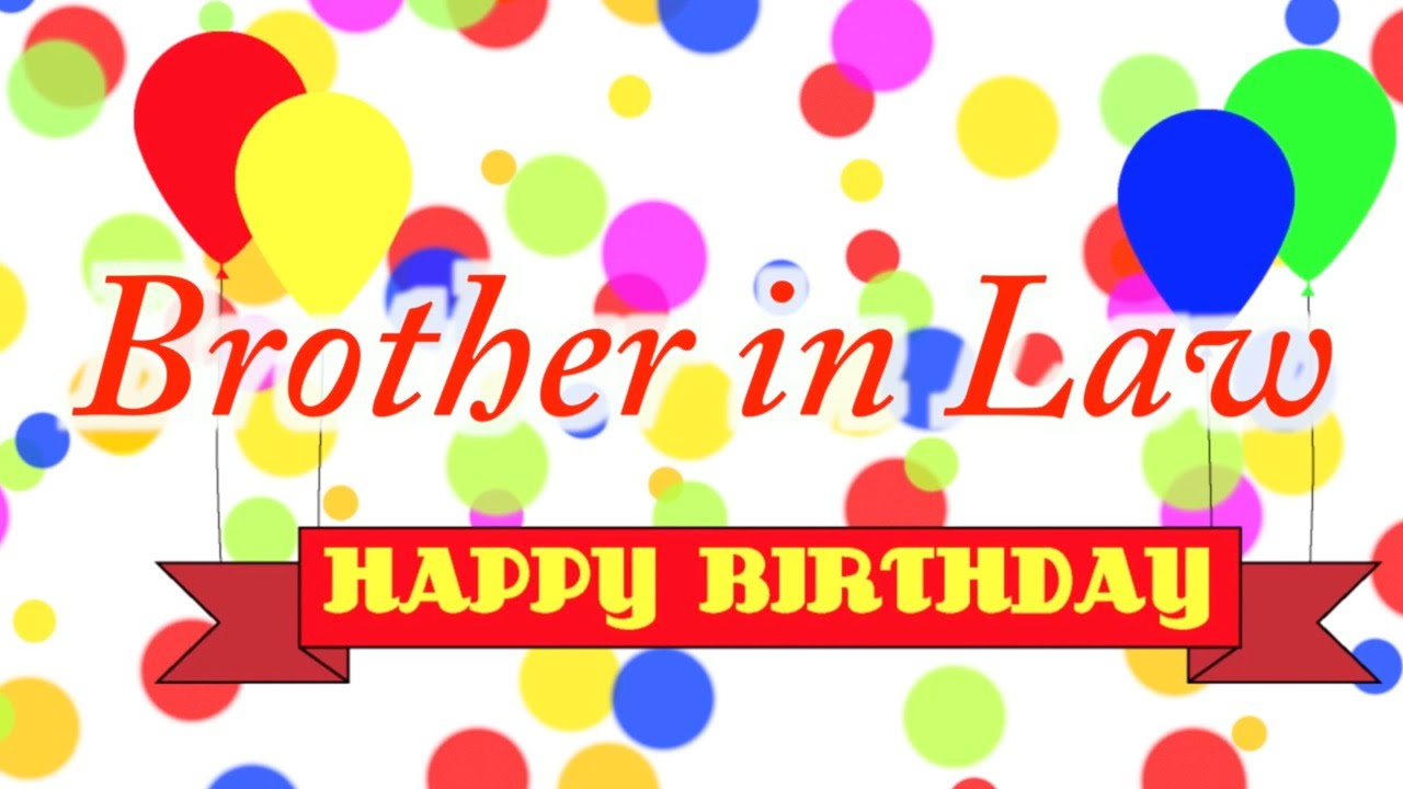 Happy Birthday Brother In Law Clipart.