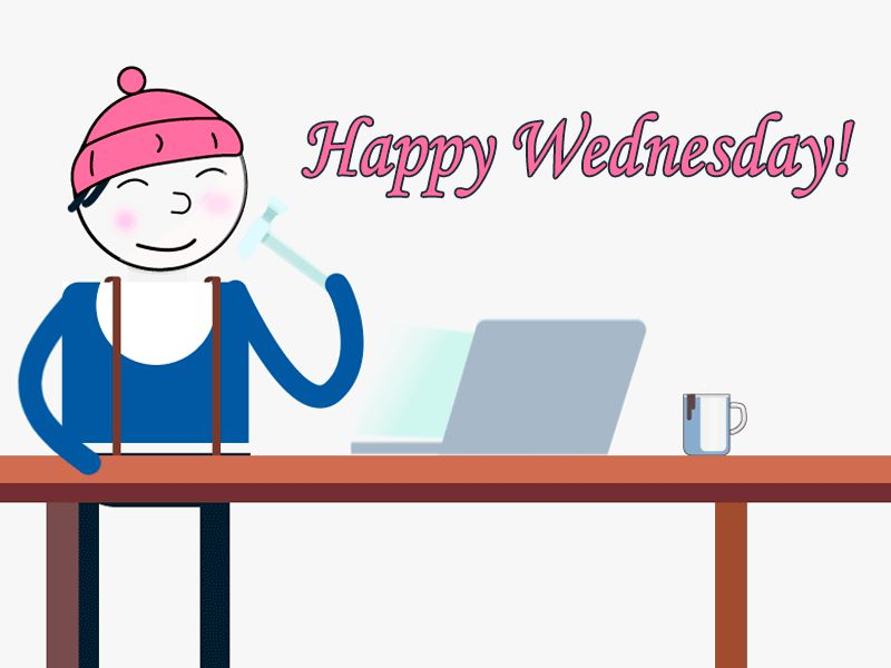 Happy Wednesday GIFs. 50 Animated Images of Good Wishes.