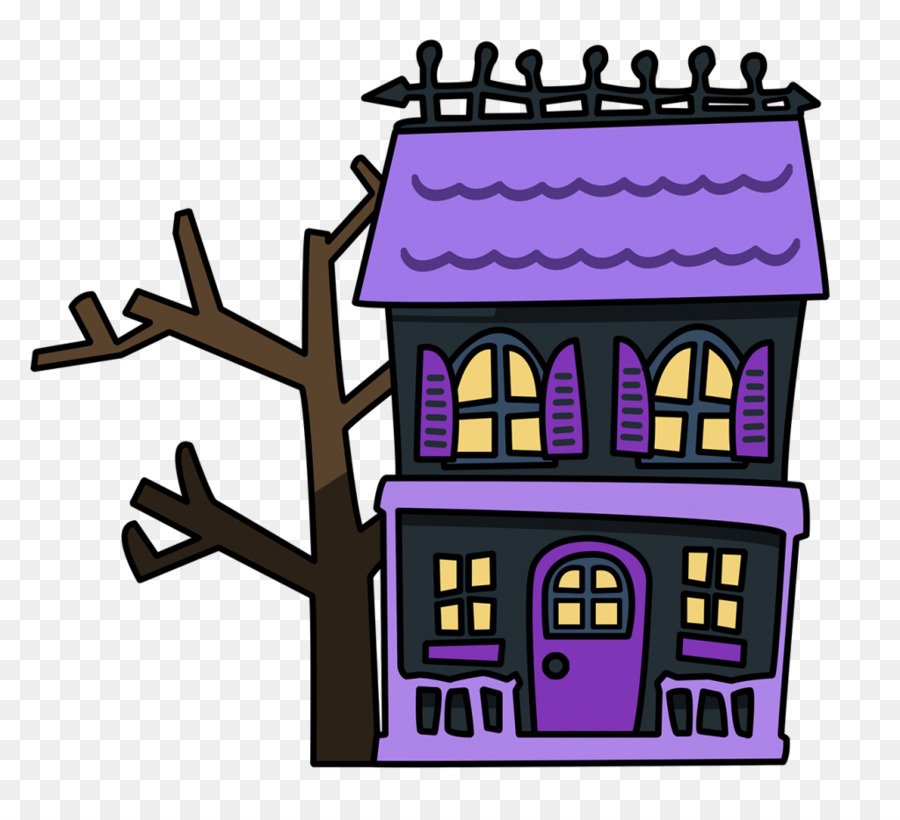 Haunted House Cartoon clipart.