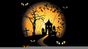 Animated Haunted Houses Clipart.