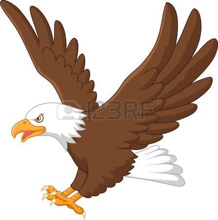 Cartoon Hawk Clipart.