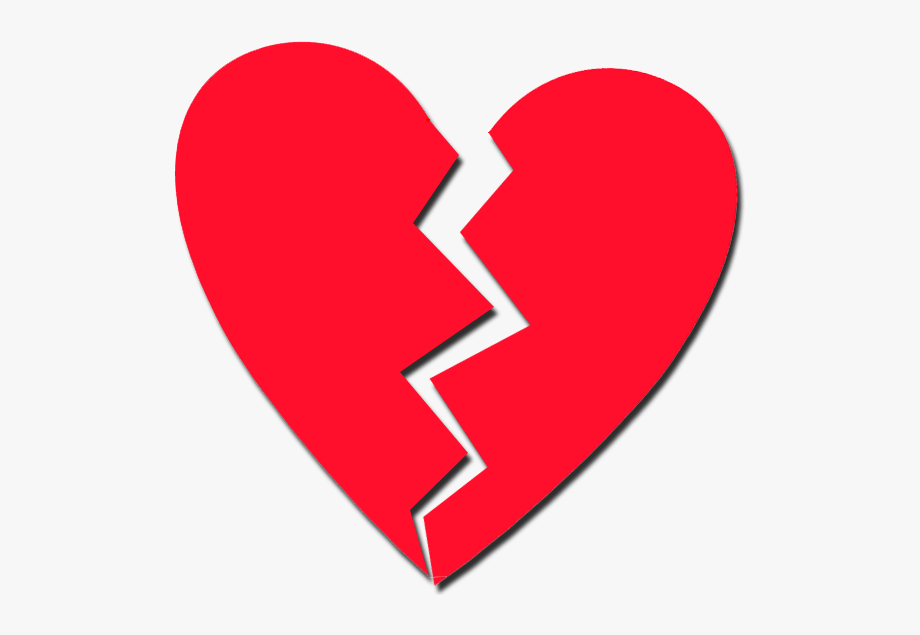 Cracked Heart , Transparent Cartoon, Free Cliparts.