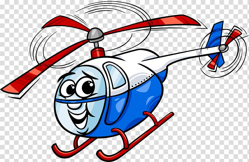 Helicopter Cartoon Illustration, Helicopter transparent.