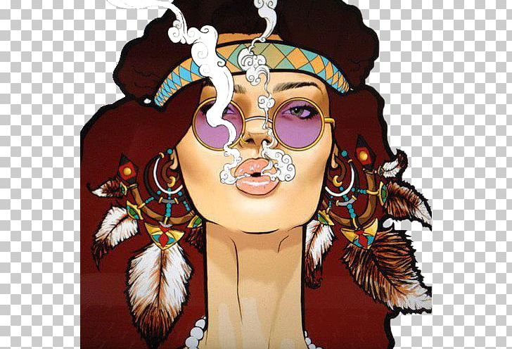 Hippie Drawing Cartoon Boho.