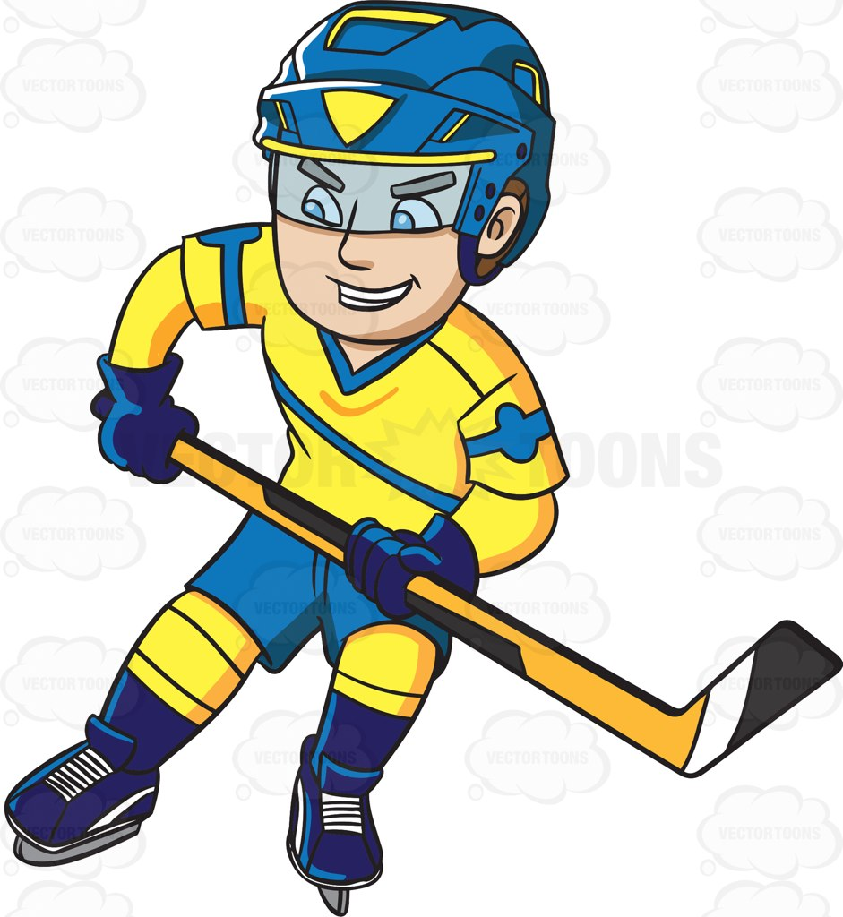Cartoon Hockey Stick Clipart.