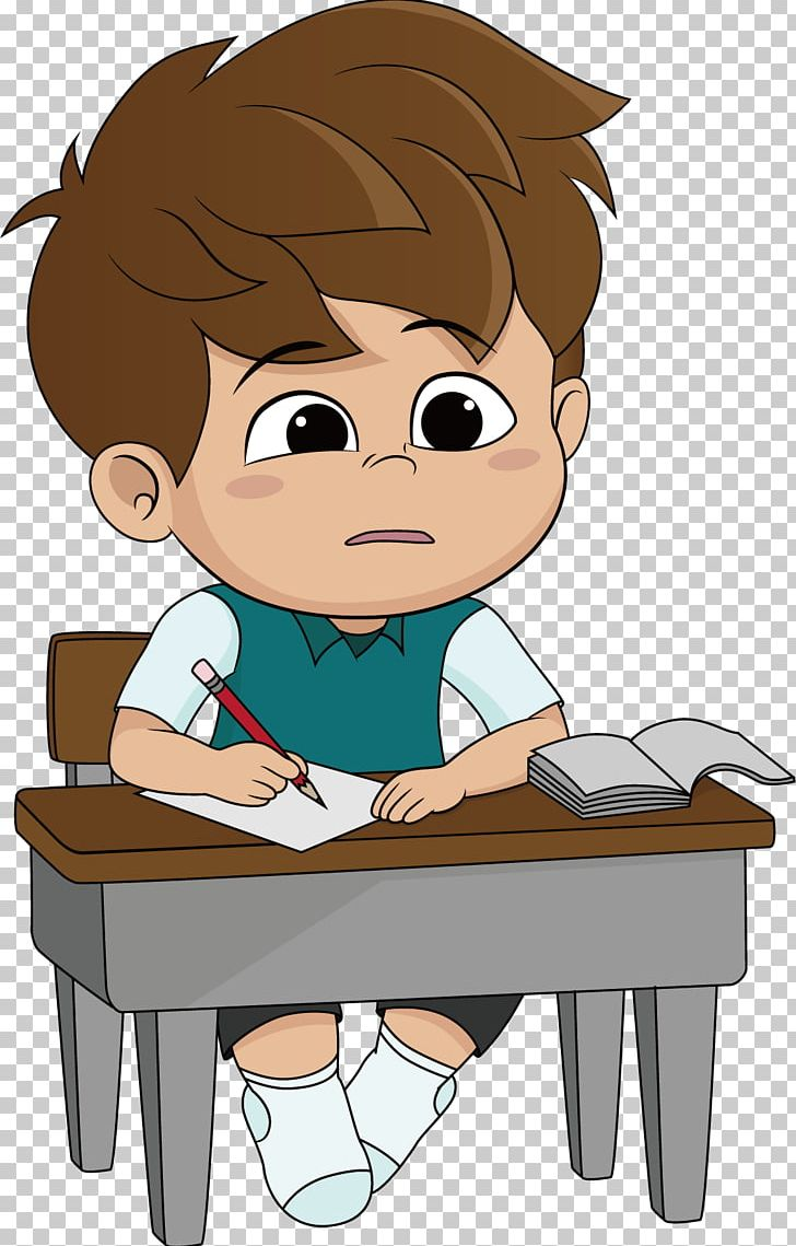 Cartoon Homework Illustration PNG, Clipart, Arm, Boy, Child.