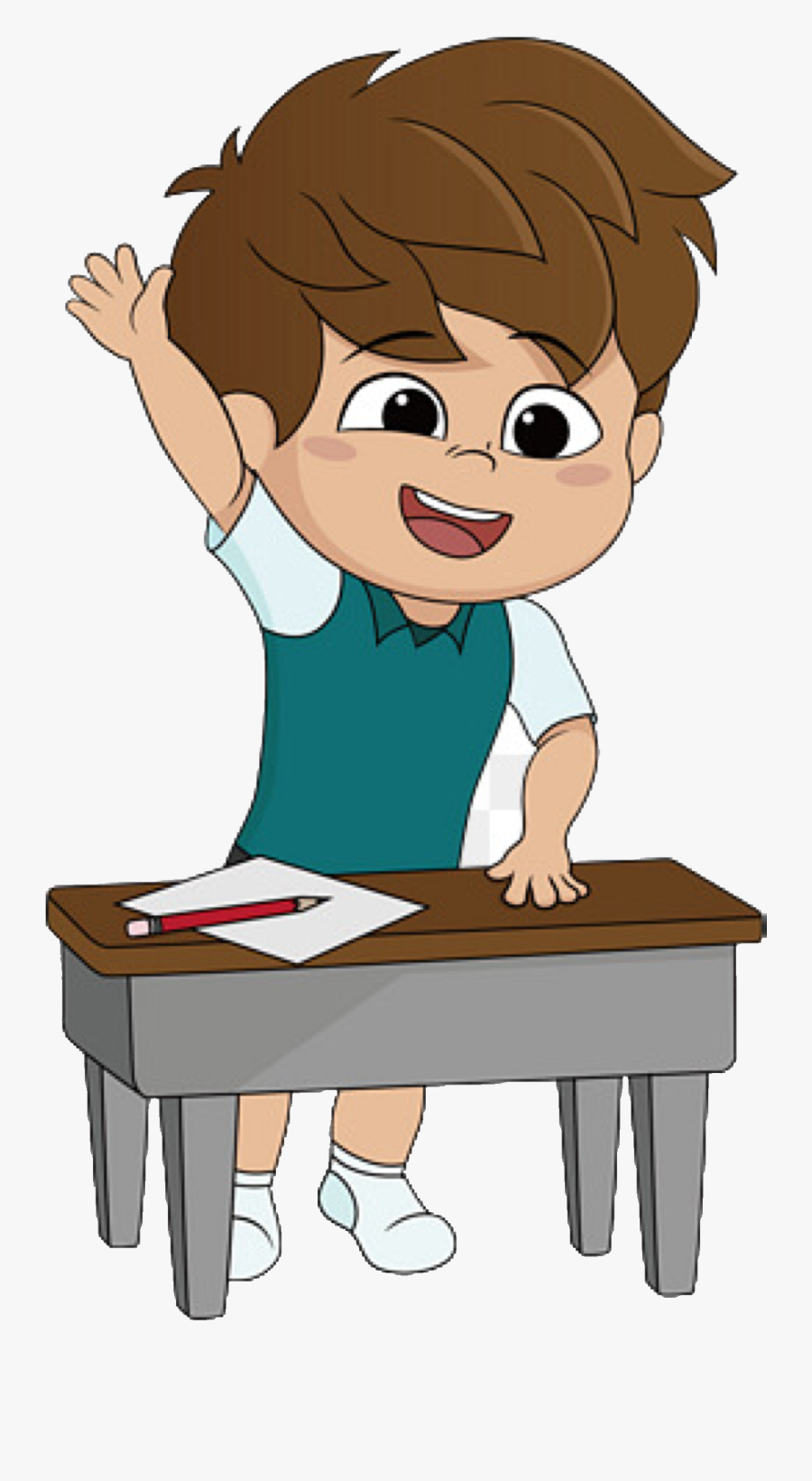 Animation Person Doing Homework , Free Transparent Clipart.