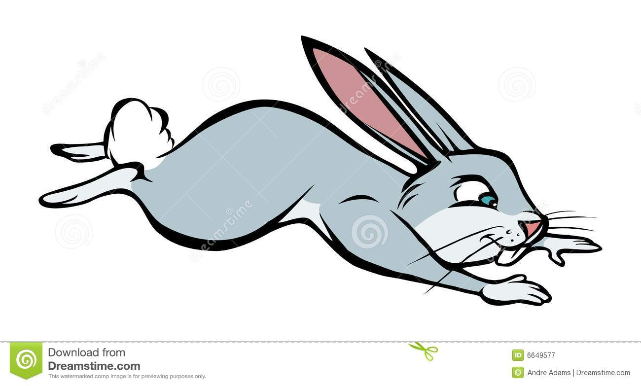 Rabbit Jumping Clipart.