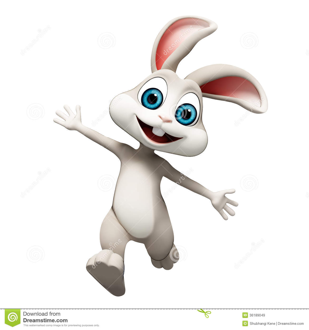 Bouncing Bunny Clipart.
