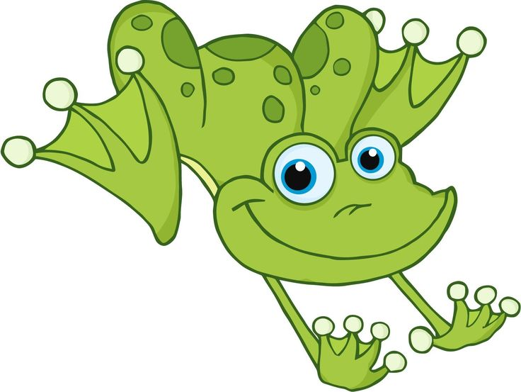 Cute Hopping Frog Clipart.