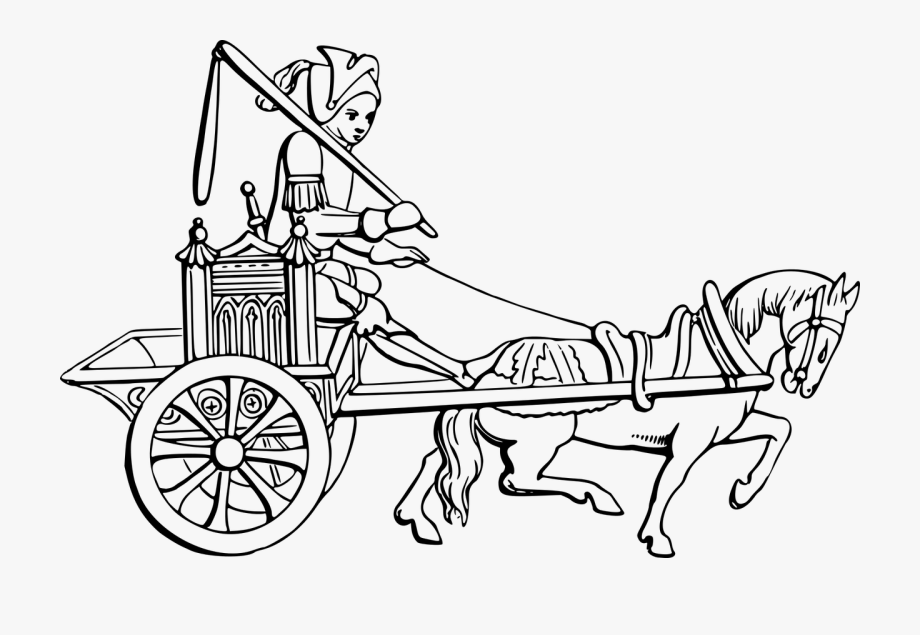 Chariot Horse Drawn Vehicle Wagon Free Commercial.
