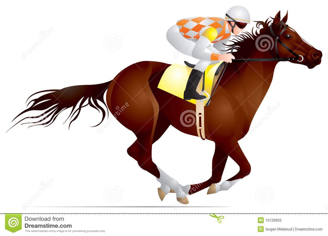Horse Racing Clipart.