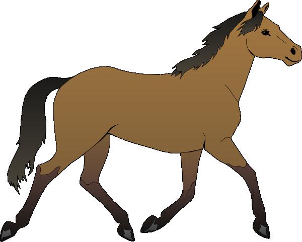 Running Horse Clip Art at Clker.com.