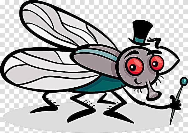 Insect Housefly Coloring book Illustration, Cartoon mosquito.