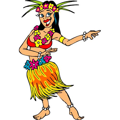 Free Cartoon Hula Dancer, Download Free Clip Art, Free Clip.