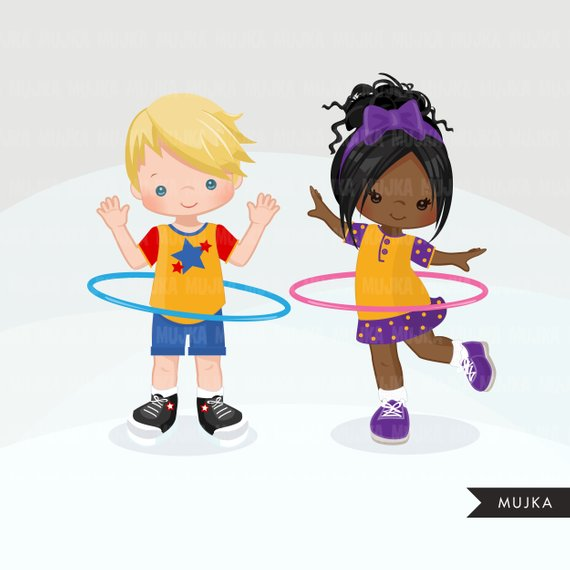 Hula hoop boys Clipart. Outdoors activity, hula hoop.