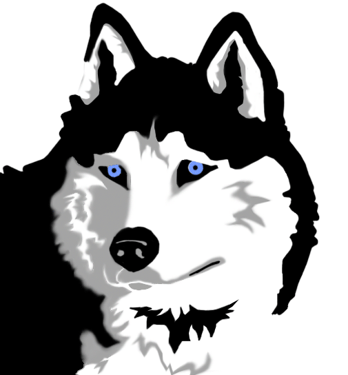 Animated husky clipart.