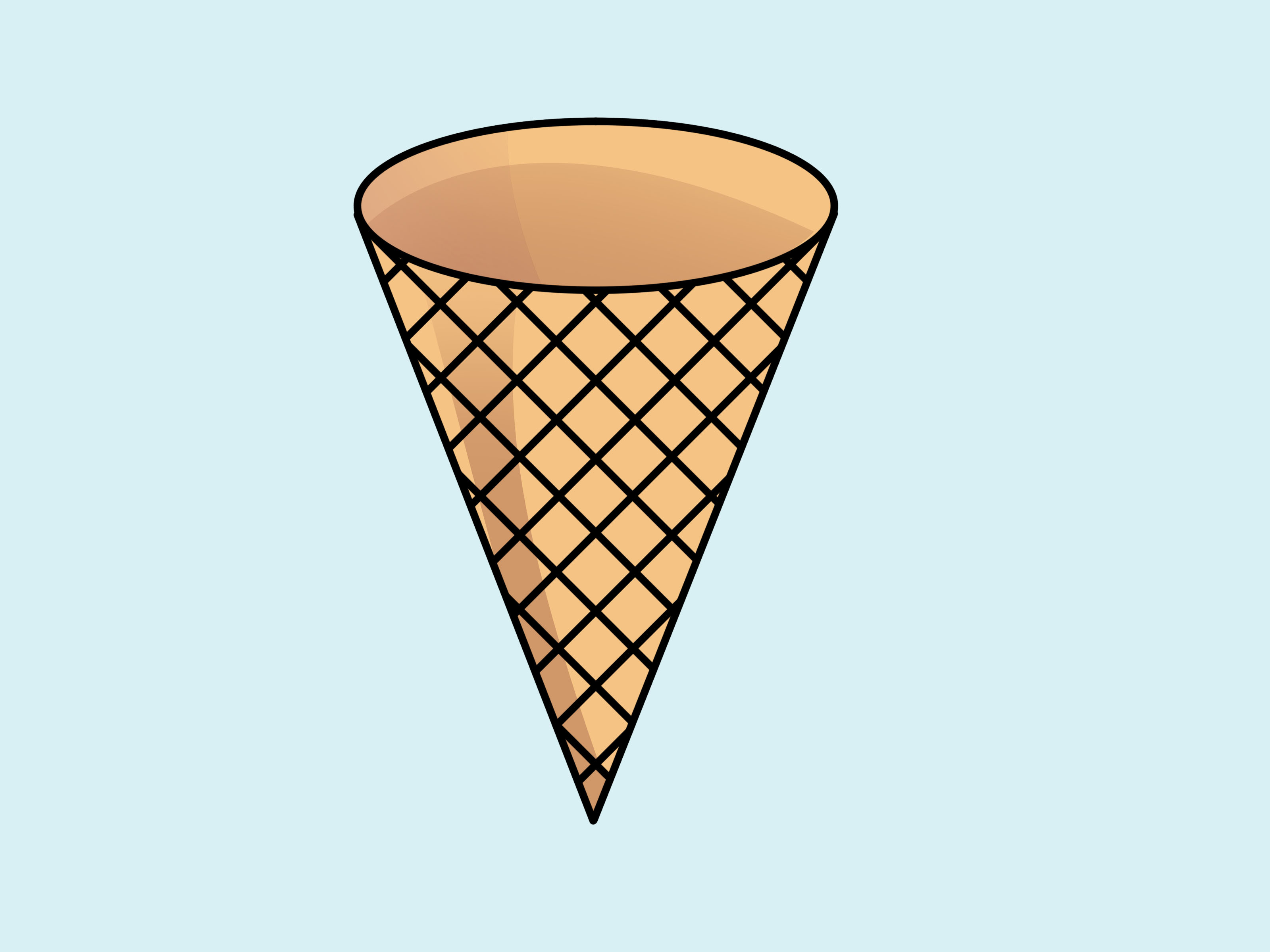 Cone clipart cute Transparent pictures on F.