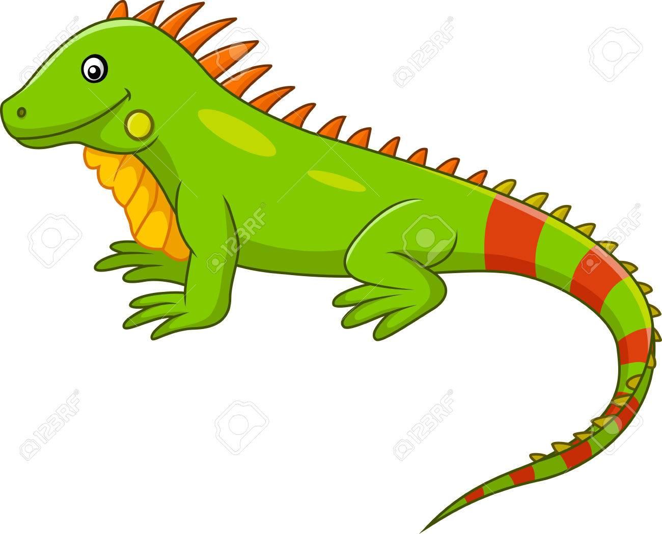 Cartoon Iguana Clipart.