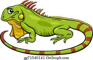 Iguana Clip Art.